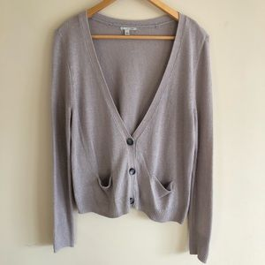 Halogen Beige Cardigan Sweater Size Small